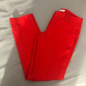Red Calvin Klein Body Pant